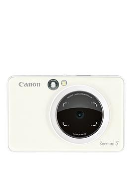 Canon    Zoemini S Pocket Size 2-In-1 Instant Camera Printer Phone (Pearl White) + App  - Zoemini S Instant Camera With 60 Pack Paper