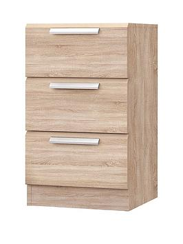 Very Waterford Ready Assembled 3 Drawer Bedside Cabinet Picture
