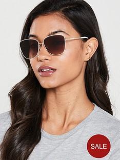 karen-millen-oval-sunglasses--nbspcreamgoldnbsp