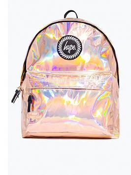 hype-girls-metallic-backpack-rose-gold