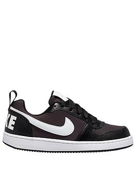 nike-childrens-court-borough-low-pe-trainers-blackwhite
