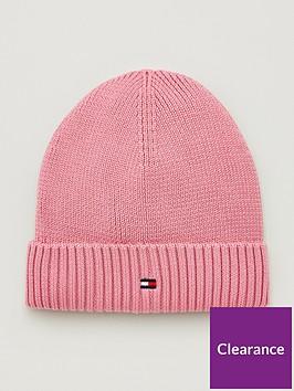 tommy-hilfiger-girls-knitted-beanie-hat-pink
