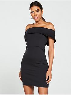 v-by-very-bardot-bodycon-mini-dress-black