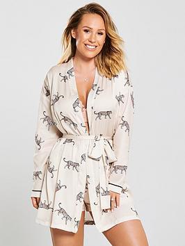 kate-wright-satin-pyjama-kimono-animal-print