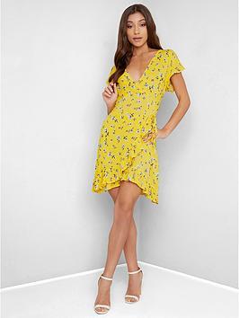 chi-chi-london-florris-floral-wrap-mini-dress-yellow