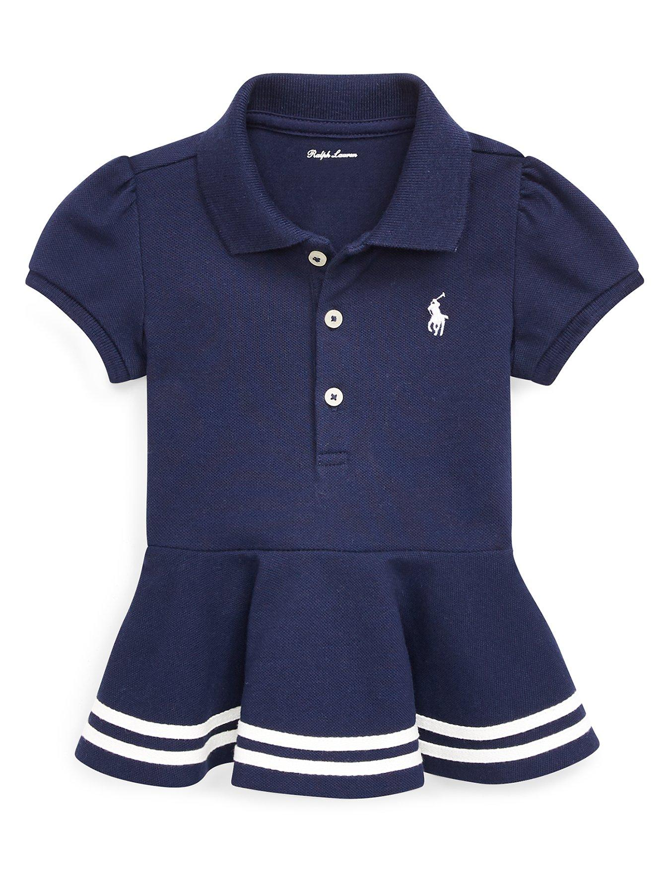 Shirt Baby Peplum Girls Navy Classic Polo oCexdB