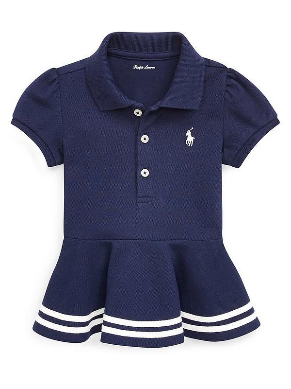 0fd97237 Baby Girls Classic Peplum Polo Shirt - Navy