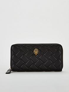 kurt-geiger-london-kensington-zip-around-wallet-black
