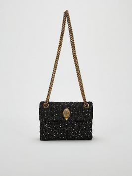 kurt-geiger-london-tweed-mini-kensington-bag-black