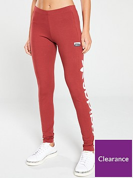 adidas-originals-logo-tights-red