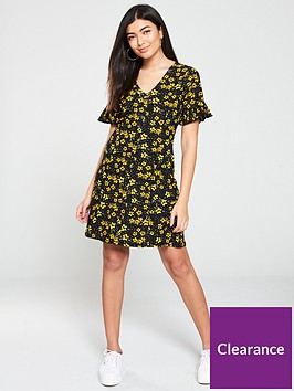 v-by-very-textured-printed-tea-dress-floral