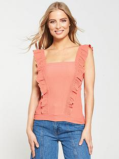 v-by-very-front-frill-top-coralnbsp