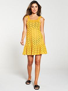 v-by-very-swimwear-jersey-cut-out-mini-shoulder-beach-dress-mustard