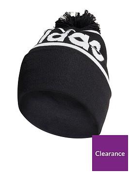 adidas-logo-pom-woolie-hat-black