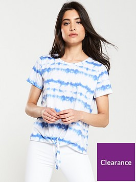 v-by-very-tie-dye-knotted-tee-blue