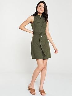 v-by-very-utility-belted-jersey-dress-khaki