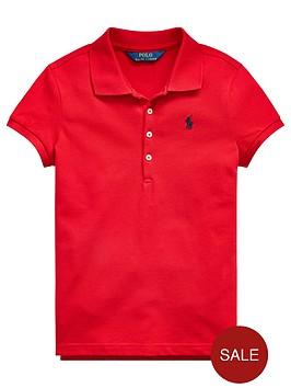 ralph-lauren-girls-classic-short-sleeve-polo-shirt-red