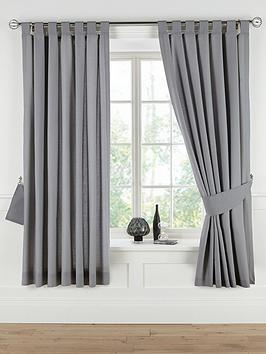 Plain Dye Tab Top Curtains