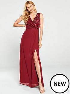 little-mistress-embellished-wrap-maxi-dress-berry
