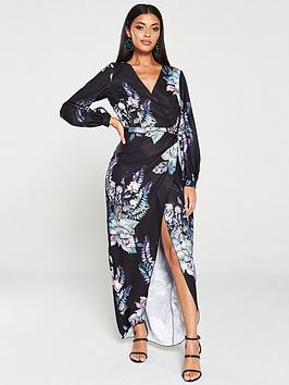 little-mistress-oriental-floral-wrap-dress-multi