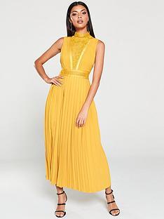 little-mistress-floral-lace-insertnbspmidaxi-dress-gold