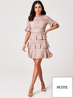 little-mistress-petite-tiered-lace-shift-dress-mink