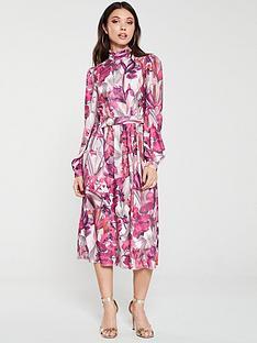 little-mistress-floral-long-sleeve-midi-dress-multi