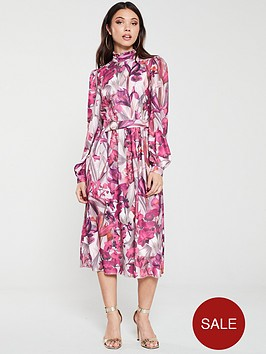 little-mistress-floral-long-sleeve-midi-dress-multi