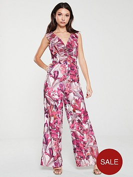 little-mistress-floral-frill-jumpsuit-multi