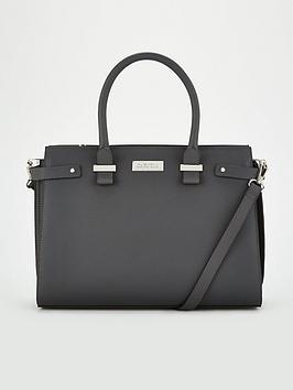 carvela-charlotte-structured-tote-grey
