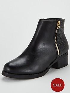 miss-kg-janice-side-zip-ankle-boot-black