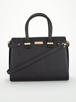 carvela-charlotte-structured-tote-black
