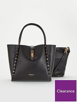 carvela-floss-chain-detail-tote-black