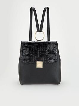 carvela-flick-circle-detail-backpack-black