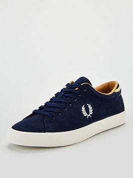fred-perry-underspin-suede-trainer-navy