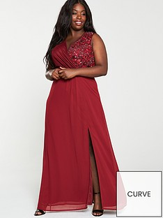 little-mistress-curve-embellished-wrap-maxi-dress-berry
