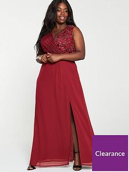 little-mistress-curve-embellished-wrap-maxi-dress-berry