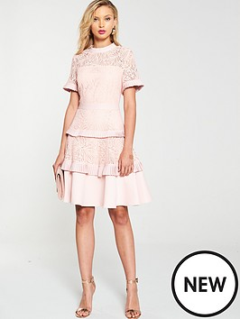 v-by-very-tiered-lace-skater-dress-pink