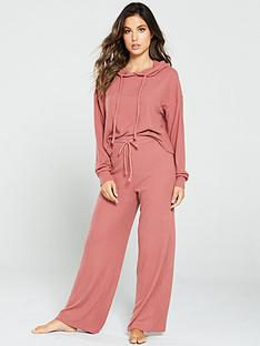 v-by-very-ribbed-wide-leg-lounge-co-ord-trousers-rose