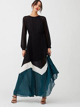 V by Very V By Very Colour Block Pleated Maxi Dress - Multi Picture
