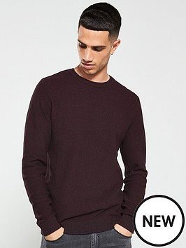 jack-jones-structured-knitted-jumper-burgundy