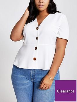 ri-plus-button-through-tea-blouse-white