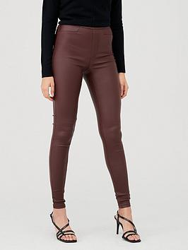 V by Very V By Very Coated Jegging - Oxblood Picture