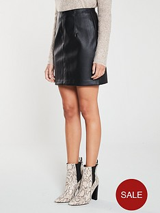 v-by-very-faux-leather-mini-skirt-black