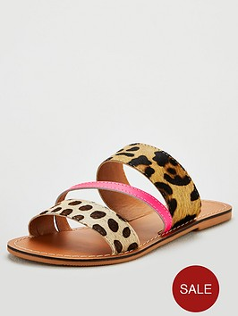 v-by-very-hazy-leather-wide-fit-sandals--nbspneon-animal-mixnbsp