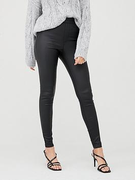V by Very V By Very Coated Jegging - Black Picture