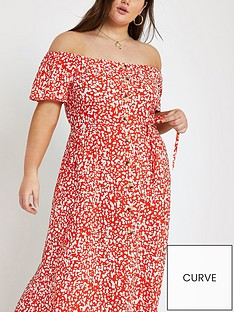 ri-plus-ri-plus-bardot-button-through-maxi-dress--red-print