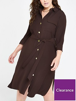 ri-plus-tie-belt-shirt-dress--chocolate