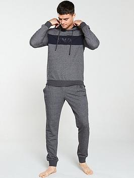 Emporio Armani Bodywear   Terry Logo Lounge Pants - Mid Grey