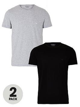 Emporio Armani Bodywear   Emporio Armani 2 Pack Cotton Regular Fit T-Shirt